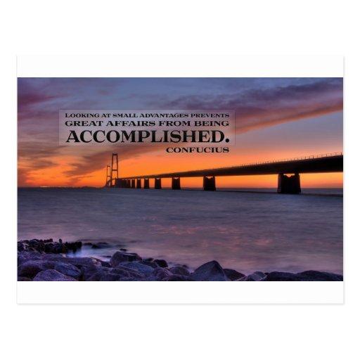 Inspirational Quote -- Confucius Post Card