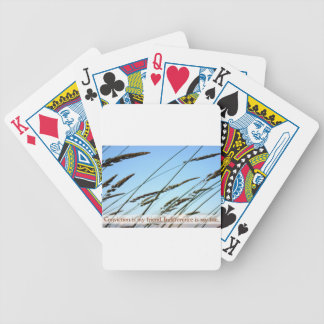 Inspirational Quote -- Conviction Bicycle Playing Cards