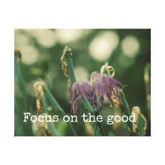 Inspirational Quote: Focus on Good Word Art Canvas Print