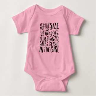 Inspirational Quote for Strong Brave Girl Fighter Baby Bodysuit