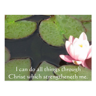 Inspirational Quote from  Bible - Philippians 4:13 Postcard
