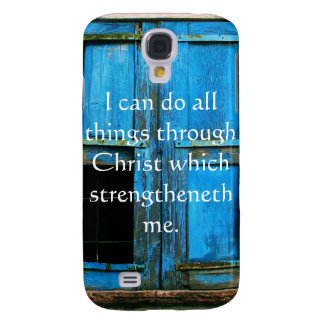 Inspirational Quote from  Bible - Philippians 4:13 Samsung Galaxy S4 Case