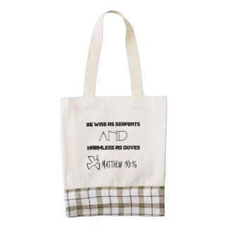 Inspirational Quote From Matthew 10:16 Zazzle HEART Tote Bag