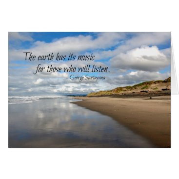 Beach Themed Inspirational quote greeting card - Pacific beach