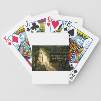 Inspirational Quote -- Horace Bicycle Playing Cards