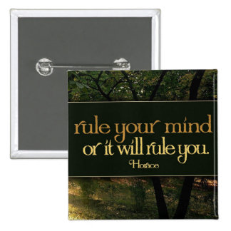 Inspirational Quote -- Horace 2 Inch Square Button