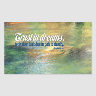 Inspirational Quote -- Kahlil Gibran Rectangle Stickers