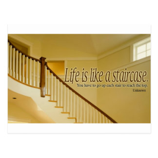 Inspirational Quote -- Life Postcard