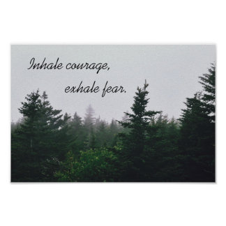 Inspirational Quote - Nature Poster