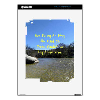 Inspirational Quote On Bending River Landscape Decals For iPad 2