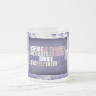 Inspirational quote on coffee mug