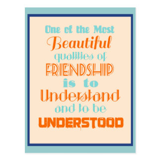 Inspirational Quote on Friendship Postcard