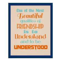 Inspirational Quote on Friendship   Poster