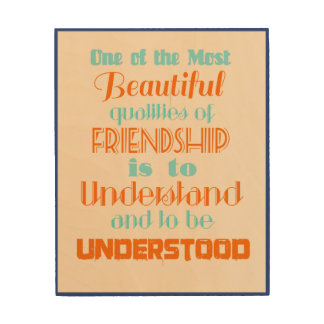 quote on friendship wood wall art