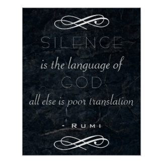 Inspirational Quote on God by Rumi Posters