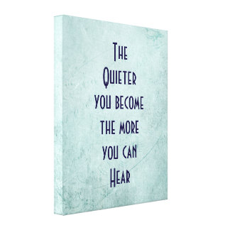 Inspirational Quote on Green Vintage Texture Canvas Print
