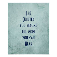 Inspirational Quote on Vintage Texture   Poster