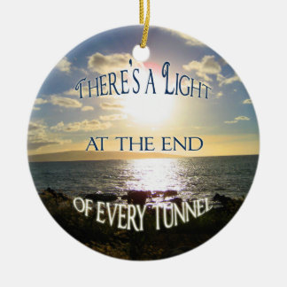 Inspirational Quote Double-Sided Ceramic Round Christmas Ornament
