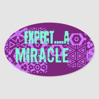 inspirational quote oval sticker