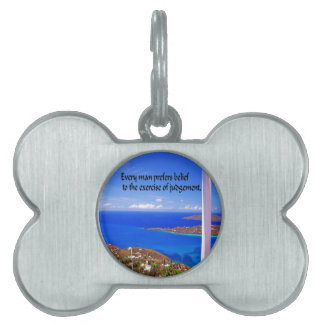 Inspirational Quote Pet ID Tag