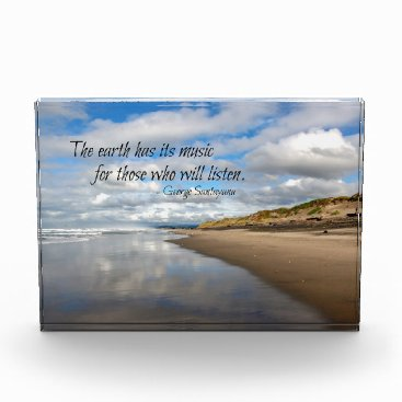 Beach Themed Inspirational quote photo block - Pacific Beach