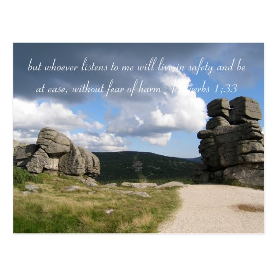 Inspirational Quote | Photo Mountains Postcard
