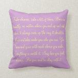 Inspirational Quote Pillow Pillows