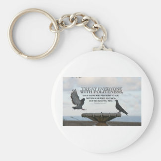 Inspirational Quote -- Politeness Key Chain