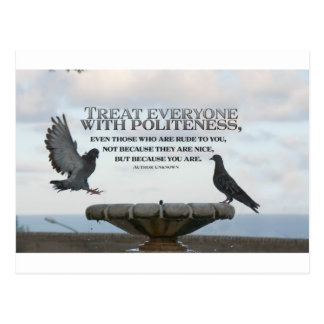 Inspirational Quote -- Politeness Postcards