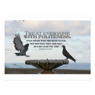 Inspirational Quote -- Politeness Postcard