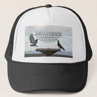 Inspirational Quote -- Politeness Trucker Hat