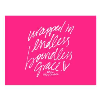 Inspirational Quote Postcard Handwritten lettering