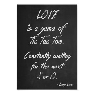 Inspirational Quote Poster - Love is a Game