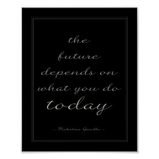 Inspirational Quote Poster The Future Black Script Poster