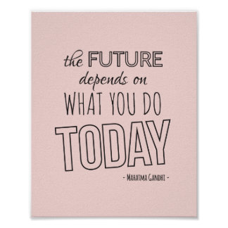 Inspirational Quote Poster The Future Pink Trend Poster
