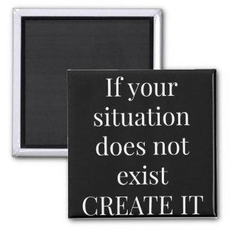 Inspirational Quote Refrigerator Magnet 2X2 Square