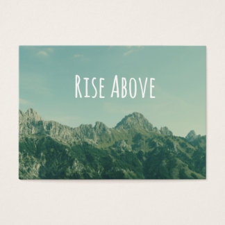 Inspirational Quote: Rise Above Business Card