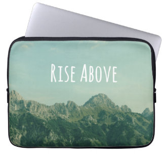 Inspirational Quote: Rise Above Computer Sleeve