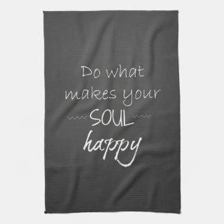 Inspirational Quote: Soul Happy Hand Towel