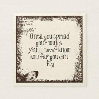 Inspirational Quote: Spread your wings and fly Paper Napkin
