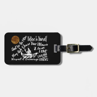 Inspirational Quote Star Night travel luggage tag