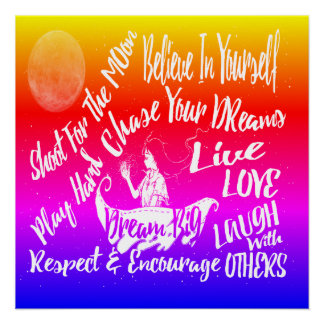 Inspirational Quote Stars @ Night poster