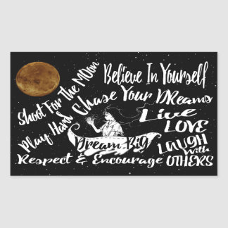 Inspirational Quote Stars @ Night sticker