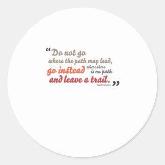 Inspirational quote round sticker