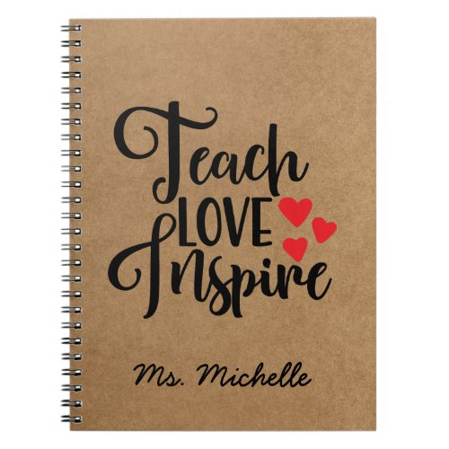 Inspirational Quote Teacher Notebook