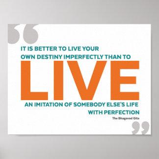 Inspirational Quote - The Bhagavad Gita Poster