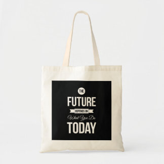 Inspirational Quote The Future Black Bags