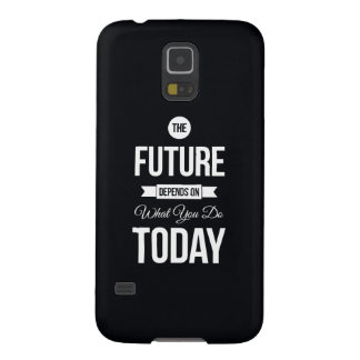Inspirational Quote The Future Black Galaxy S5 Case
