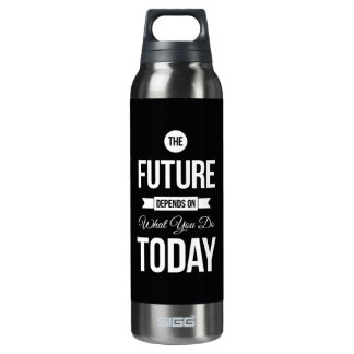 Inspirational Quote The Future Black SIGG Thermo 0.5L Insulated Bottle