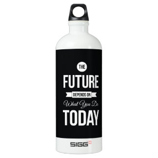 Inspirational Quote The Future Black SIGG Traveler 1.0L Water Bottle
